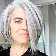 Likes, 294 Comments - Nikol Johnson Sanchez Silver White Hair, Silver Ring, Grey Hair Inspiration, Gray Hair Growing Out, Long Gray Hair, Great Hair, Hair Today, Mode Style, Hair Highlights