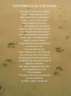 footprints in the sand carleyk. Inspiration for my tattoo❤