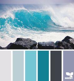 Coastal Decor - Beach Decor Color Palette Surf's Up Ocean Themes, Beach Themes, Girls Bedroom, Master Bedroom, Master Closet, Master Bath, Beach Room, Coastal Living Rooms, Cool Ideas