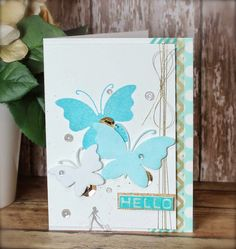 """My Creative Time: Inspiration Wednesday & my homework for """"Clean & Simple 4"""" online card class!"""