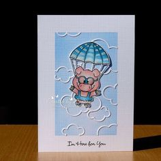 I promise: These are the last parachute piggies from @gerdasteinerdesigns (for now). This time I made 2 clean and simple cards. I used cloud dies from @lawnfawn I coloured the piggies with my @fabercastellglobal polychromos pencils #gerdasteinerdesigns #gerdasteiner #parachutepiggy #polychromos #polychromospencils #cas #lawnfawn #cascard #handmade #handmadecards #handgemaakt #kaartje #kaartjes #kaartenmaken