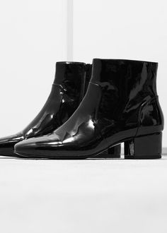 MANGO - Patent ankle boots #FW14