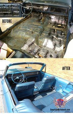 For more info and hundreds of pics from this 1968 Chrysler 300 Restoration, visit our website by clicking the pic. Chrysler 300 Convertible, Metal Fab, Collectible Cars, Car Restoration, Mopar, Custom Cars, Dream Cars, Website, Classic