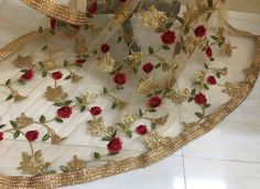 This listing is of Beautiful Golden Sequins Work Net Dupatta. The dupatta has Beautiful Sequins Work pattern all over and Borders stitched all around the four sides. The length of the dupatta is metres. Buffet Party, Party Kleidung, Golden Red, Classic Elegance, Occasion Wear, Simple Outfits, Fabric Material, Red Gold, Party Wear