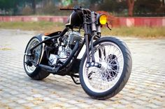 Royal Enfield with a Springer fork