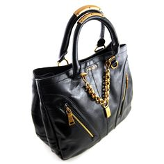 Prada Leather Handbag Br4145 Black