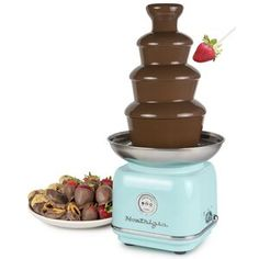 Nostalgia Electrics Nostalgia Classic Retro Chocolate Fondue Fountain, Capacity, Easy to Assemble Tiers, Aqua Chocolate Fondue Fountain, Chocolate Fountains, Cotton Candy Cone, Sugar Free Candy, Nacho Cheese, Retro 4, Hard Candy, Cool Things To Buy, Sweet
