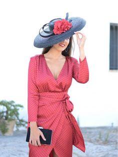 Vestido de fiesta Lunares Otoño, rojo,  Invitada Perfecta, lunares, tulipán, Mariquita Trasquilá