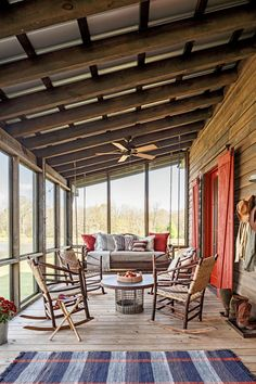 Dogtrot styled new home. Screened in porch.