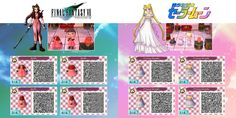QR codes for Animal Crossing New Leaf by TholiaArt.deviantart.com on @deviantART