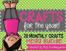 Do you love crafts as much as I do for the little ones? You'll love this year long craftivity bundle! Full of crafts for spring, summertime, winter, you name it! #easy #fun