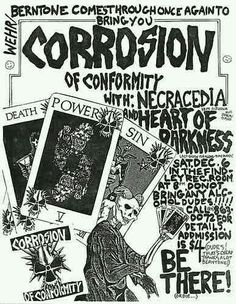 CORROSION OF CONFORMITY (C.O.C.), NECRACEDIA, and HEART OF DARKNESS.