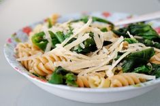 Pasta with Tetragon (New Zealand Spinach)