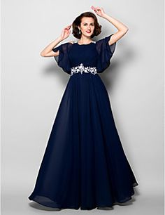 A-line Jewel Floor-length Chiffon Mother of the Bride Dress ... – AUD $ 206.99
