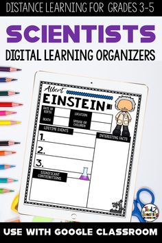 Organizing research for a biography report can sometimes be a challenge for students. Use these FAMOUS SCIENTISTS biography research organizers to help gather, organize, and record information and key details about scientists throughout history.  These digital SCIENTISTS BIOGRAPHY research organizers are the perfect tool to help your students organize their research for their project or report on the their chosen historical figure.