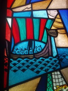 Viking Ship Detail, Coventry Cathedral