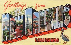 Greetings from New Orleans, Louisiana - Large Letter Postcard by Shook Photos, via Flickr