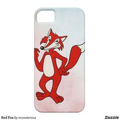Red Fox iPhone SE/5/5s Case #Fox #Animal #Cartoon #Illustration #Fashion #Mobile #Phone #Case #Cover #iPhone
