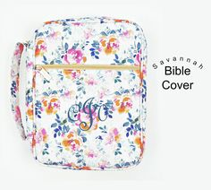 Monogrammed Savannah Floral Bible Cover by jansnstitches on Etsy Perfect gift for Confirmation, Birthdays, and Graduations! Would make a great gift for Bridesmaids, too!