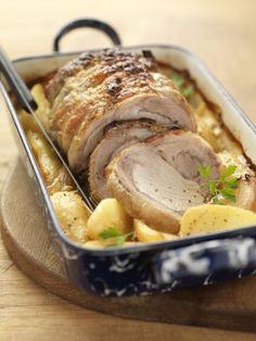 Roti de porc, roasted pork