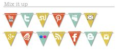 Free social media icons for your blog or website