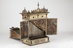 Positive (Small Organ).  Portable organ from the late 1600's, set on tables and played with small keyboard.  This is the cutest thing ever.