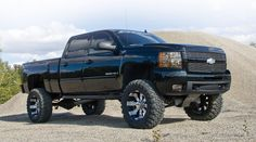 My dream truck!!! Black Chevy silverado 2500HD with suspension lift kit