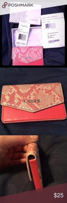 Brand New Lodis card wallet Cute new coral snake print card wallet. Lodis Bags Wallets
