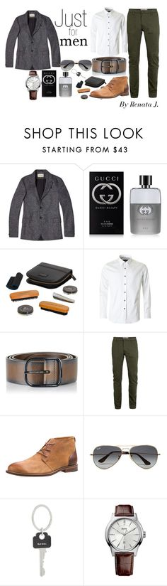 """""""Para ellos"""" by renata-jim on Polyvore featuring Oliver Spencer, Gucci, Wild & Wolf, 1 Like No Other, Diesel, Topman, J Shoes, Ray-Ban, Paul Smith y HUGO"""
