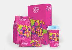 Cereal packaging colorful illustrative design Cereal Packaging, Concept, Drinks, Illustration, Colorful, Drawing, Logo, Design, Drinking