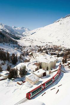 Andermatt in winter - Canton of Uri, Switzerland
