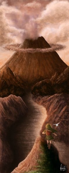 Approaching Death Mountain by ~Desiree-M on deviantART