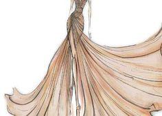 Sketch of dress of fashion designer 62