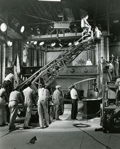 Historic Photograph of Filming The Buckaneer At Paramount Studios