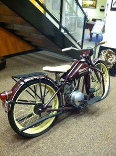 The first Harley Davidson made, seen it in the BIG Harley store in Missouri!