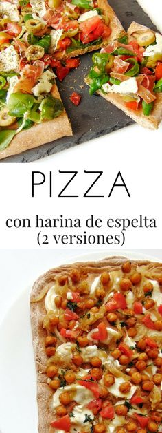 Receta fácil para preparar masa de pizza con harina de espelta integral + 2 ideas para pizzas originales Pizza Recipes, Real Food Recipes, Healthy Recipes, Pizza Ranch, Pre Cooked Chicken, Easy Homemade Pizza, Bariatric Recipes, Food Humor, Empanadas