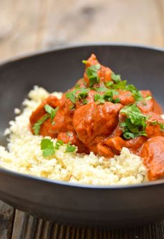 Indian Butter Chicken with Cauliflower Rice