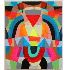 Maya Hayuk Maya Hayuk, Abstract Paintings, Abstract Art, Pattern Art, Print Patterns, Graffiti, Street Art, Sculpture, Color Theory