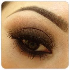 Classic dark brown and black smoky eye