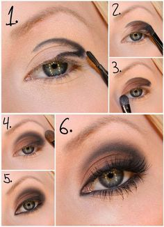 Learn how to make a perfect smoky eye makeup - Soy Moda Step By Step: Natural Makeup For Your Day To Day - Make-Up, (step by step) B # step hair and beauty . Eye Makeup Tips, Love Makeup, Skin Makeup, Makeup Brushes, Smokey Eye Makeup, Makeup Looks, Makeup Ideas, Makeup Tutorials, Makeup Eyeshadow