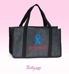 Promote Autism Awareness and individuality with this Thirty-One Black Cross Pop Keep it Caddy and royal blue ribbon. For every ribbon purchased 31 cents will be donated to Thirty-One Gives to support our mission to empower women and girls and strengthen families    www.mythirtyone.com/lorikuramoto