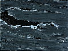 """Werner Knaupp (German, b. 1936), Westmännerinseln 12.02.10, 2010. Acrylic on canvas, 30 x 40 cm. """