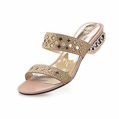 Show Shine Women's Fashion Glitter Rhinestones Low Heel Slides Sandals (7, gold) Show Shine http://www.amazon.com/dp/B00WLK6XPI/ref=cm_sw_r_pi_dp_RThvvb0ZRSP7M