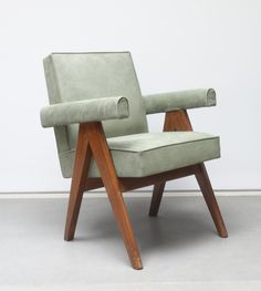 Office chair by Pierre Jeanneret.                                                                                                                                                                                 More