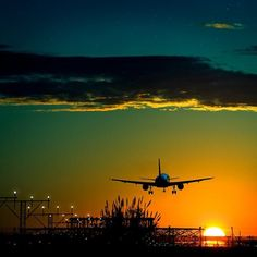 flying off in the sunset to some exciting place
