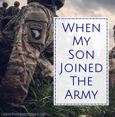 When my son joined the Army my whole world changed. Being an Army Mom is hard! I'm sharing our story and some tips to make your journey easier if you're becoming a Military Mom.