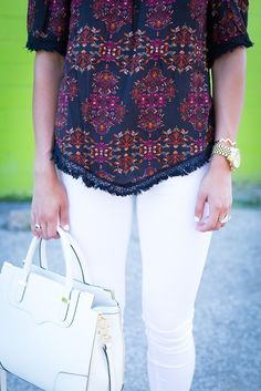 Paisley Print Top // A Southern Drawl