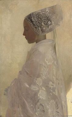 A Maiden in Contemplation, Gaston La Touche