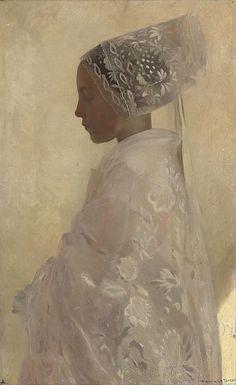 A Maiden in Contemplation, Gaston La Touche