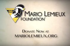 Mario Lemieux Foundation Anniversary Video / Support the Mario Lemieux Foundation - Donate Now Mario Lemieux, Foundation, Donate Now, 20th Anniversary, Company Logo, 20th Birthday, 20 Year Anniversary, Foundation Series